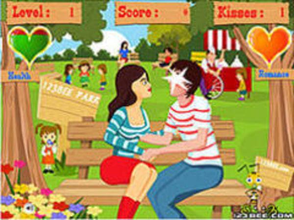 Bild zu Mädchen-Spiel Blocking Kissing