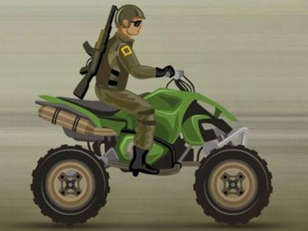 Bild zu Rennen-Spiel Army Rider