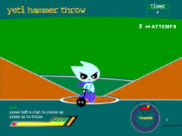 Bild zu Action-Spiel Yeti Hammer Throw