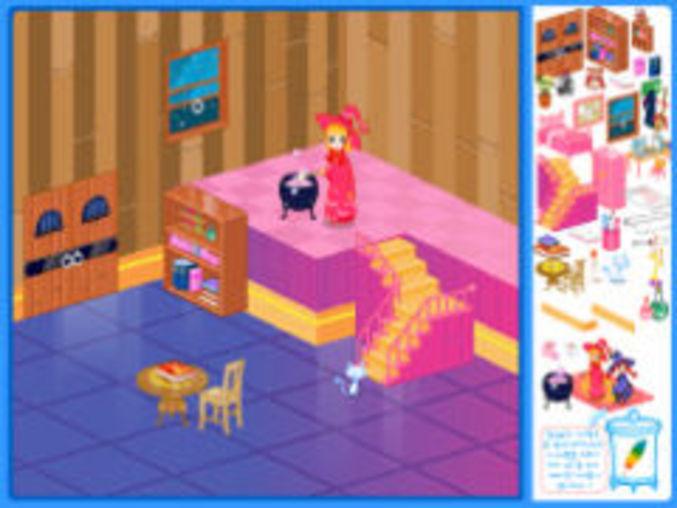 Hexenhaus kostenlos online spielen auf m dchenspiele for Zimmer einrichten simulation