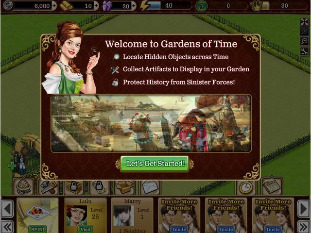 Gardens of Time Screenshot 1