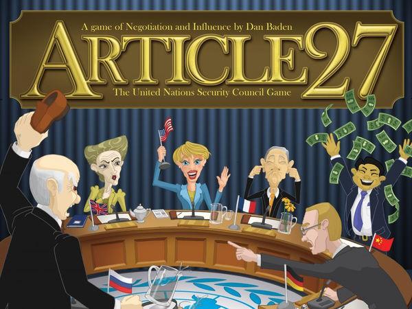 Bild zu Frühjahrs-Neuheiten-Spiel Article 27: The UN Security Council Game