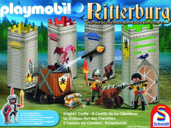 Bild zu Alle Brettspiele-Spiel Playmobil: Ritterburg - Auf der Suche nach dem Edelsteinschatz