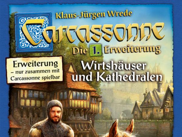 Bild zu Alle Brettspiele-Spiel Carcassonne: 1. Erweiterung - Wirtshäuser & Kathedralen