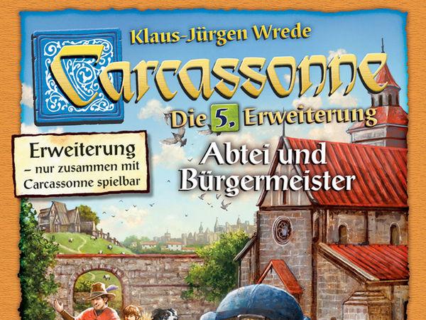 Bild zu Alle Brettspiele-Spiel Carcassonne: 5. Erweiterung - Abtei und Bürgermeister