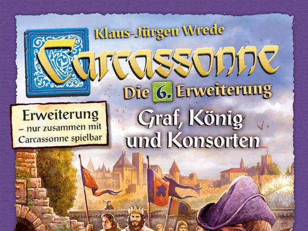 Bild zu Alle Brettspiele-Spiel Carcassonne: 6. Erweiterung - Graf, König und Konsorten