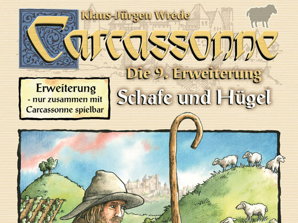 Bild zu Alle Brettspiele-Spiel Carcassonne: 9. Erweiterung - Schafe und Hügel