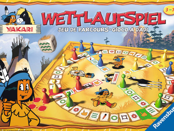 Bild zu Alle Brettspiele-Spiel Yakari Wettlaufspiel