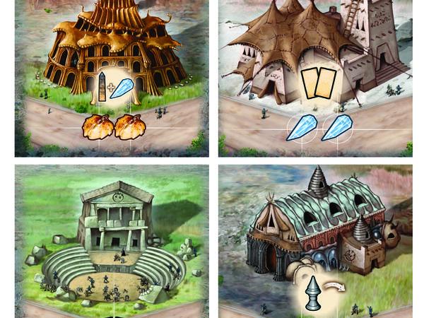 Bild zu Alle Brettspiele-Spiel Blue Moon City: Neue Gebäude