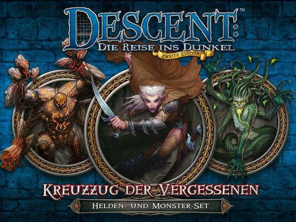 Bild zu Alle Brettspiele-Spiel Descent: Die Reise ins Dunkel - Zweite Edition -  Kreuzzug der Vergessenen: Helden- und Monster-Set