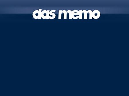 Tatort: Das Memo