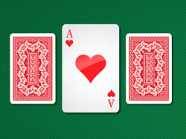 Bild zu Karten & Brett-Spiel Three Cards Monte