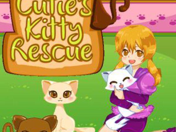 Bild zu Mädchen-Spiel Cutie's Kitty Rescue