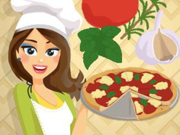 Bild zu Mädchen-Spiel Emma's Pizza Margherita