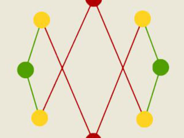 Bild zu Denken-Spiel Trenne die Linien