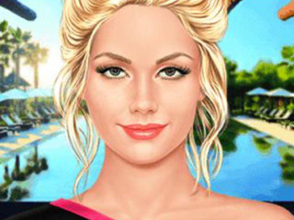Bild zu Mädchen-Spiel Lily schminken