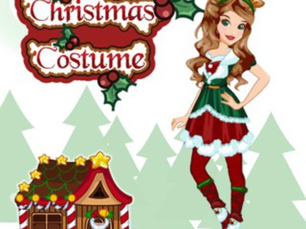 Bild zu Mädchen-Spiel Christmas Costume