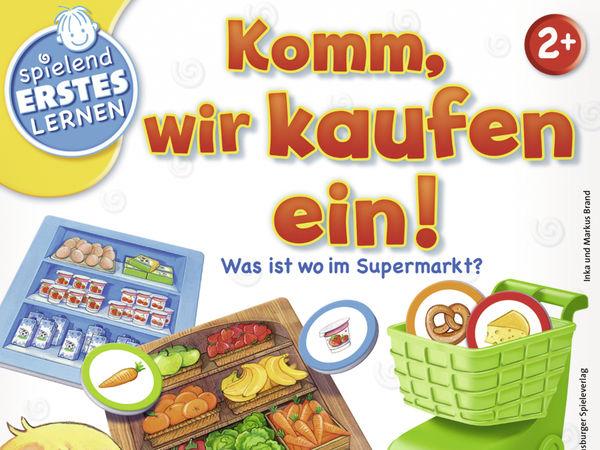 Bild zu Alle Brettspiele-Spiel Komm, wir kaufen ein! Was ist wo im Supermarkt?