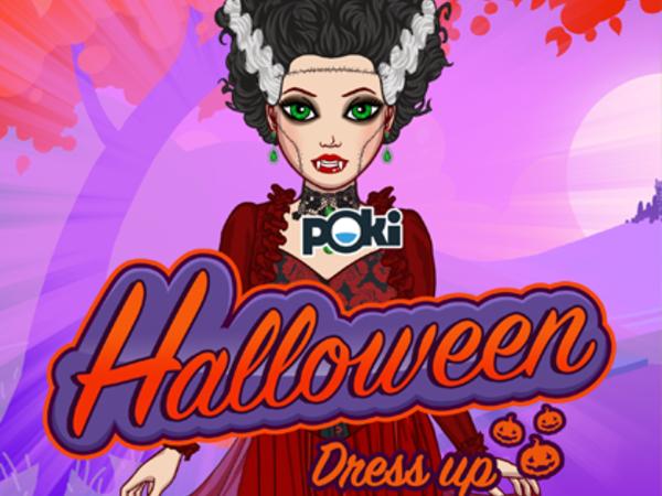 Bild zu Mädchen-Spiel Halloween Dress Up