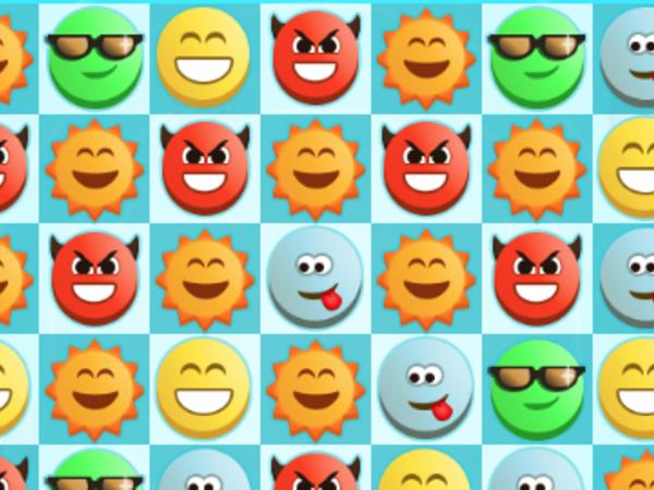 Bild zu Denken-Spiel Emoji Match 3