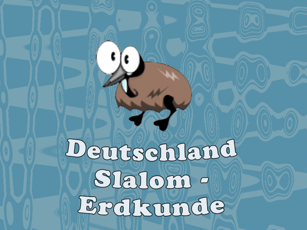 Bild zu Rennen-Spiel Deutschland Slalom - Erdkunde