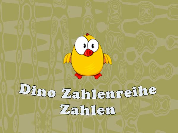Bild zu Kinder-Spiel Dino Zahlenreihe - Zahlen lernen