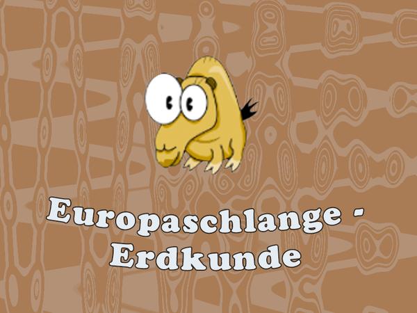 Bild zu HTML5-Spiel Europaschlange - Erdkunde
