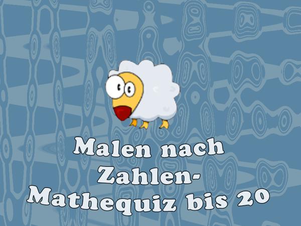 Bild zu Kinder-Spiel Malen nach Zahlen - Mathequiz bis 20