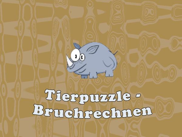 Bild zu Kinder-Spiel Tierpuzzle - Bruchrechnen