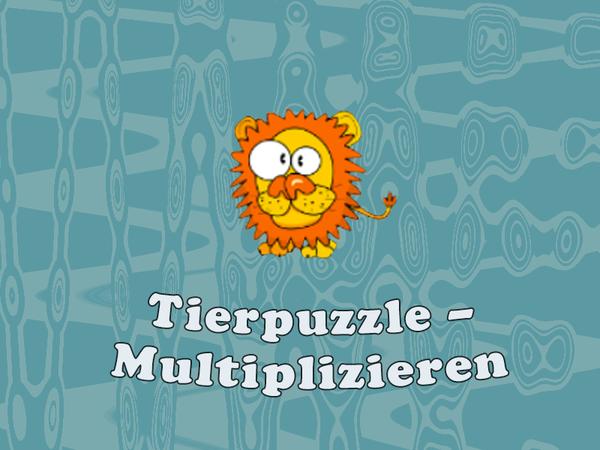 Bild zu Kinder-Spiel Tierpuzzle - Multiplizieren