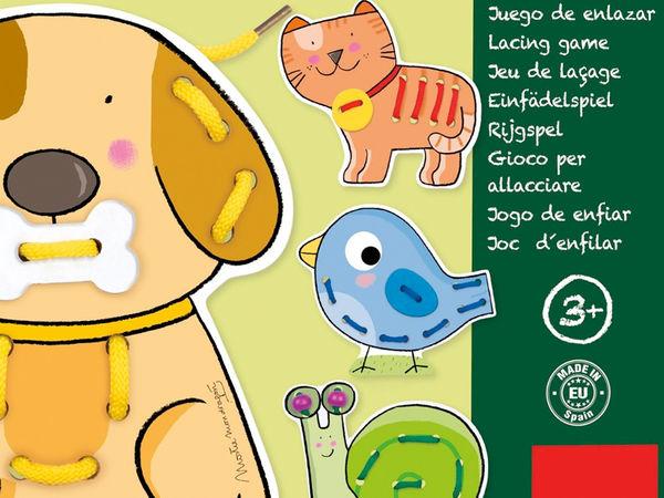 Bild zu Alle Brettspiele-Spiel Fädelspiel Tiere
