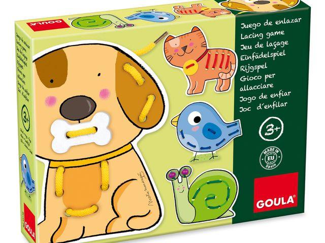 Fädelspiel Tiere Bild 1