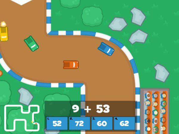 Bild zu Rennen-Spiel Mathe GrandPrix  - Mathe bis 100