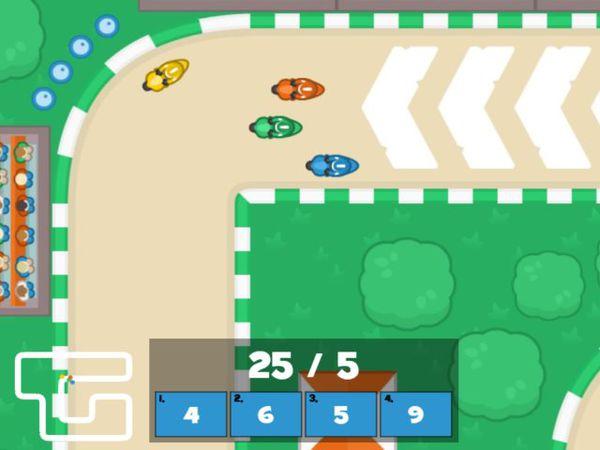 Bild zu Rennen-Spiel Mathe Grand Prix - Dividieren