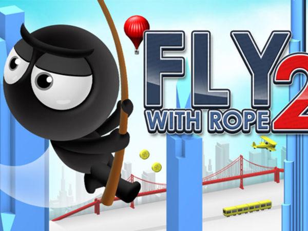 Bild zu Action-Spiel Fly with Rope 2
