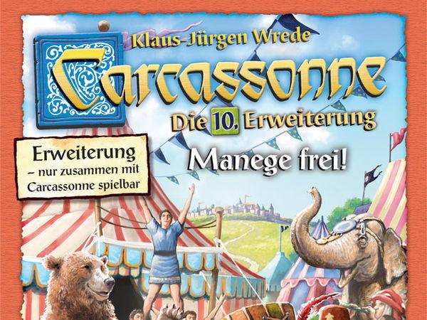 Bild zu Alle Brettspiele-Spiel Carcassonne: 10. Erweiterung - Manege frei!