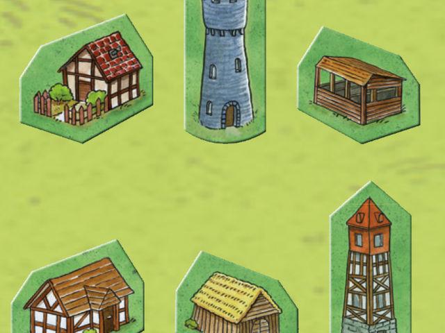 Carcassonne: Die Häuser Bild 1