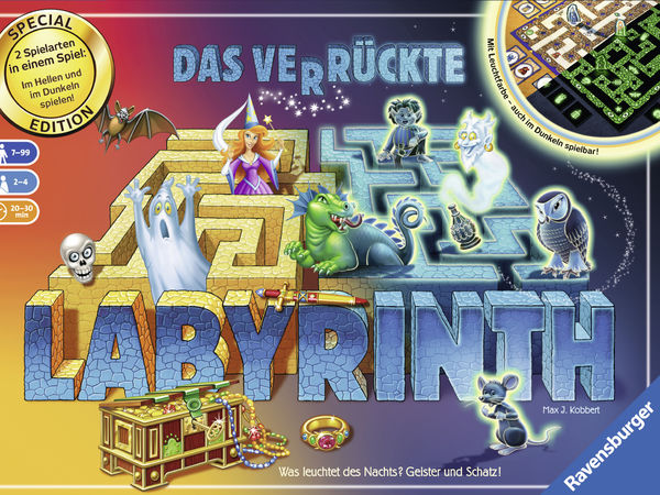 Bild zu Alle Brettspiele-Spiel Das verrückte Labyrinth - Glow in the Dark