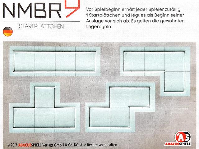 NMBR 9: Startplättchen Bild 1