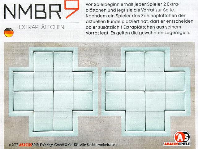 NMBR 9: Extraplättchen Bild 1