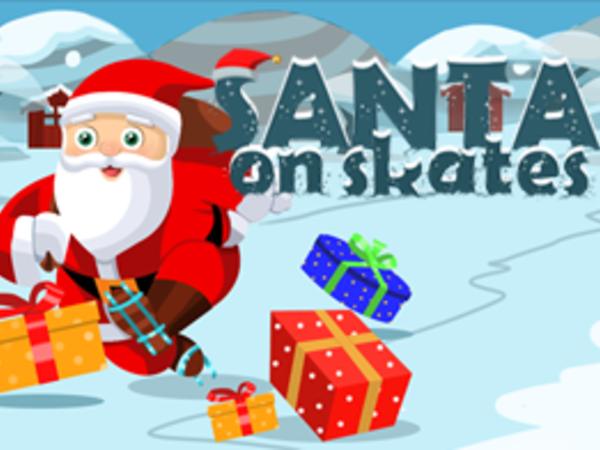 Bild zu Geschick-Spiel Santa on skates