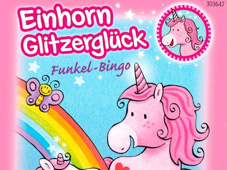 Einhorn Glitzerglück Funkel-Bingo
