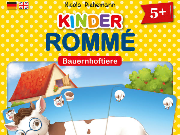 Bild zu Alle Brettspiele-Spiel Kinder-Rommé: Bauernhoftiere