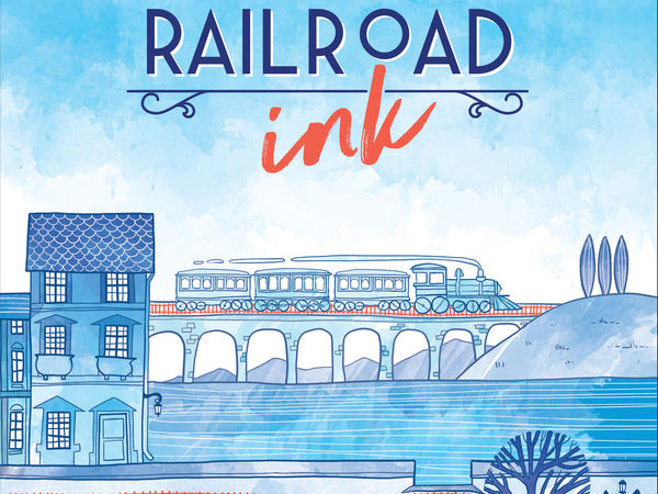 Bild zu Alle Brettspiele-Spiel Railroad Ink: Tiefblau