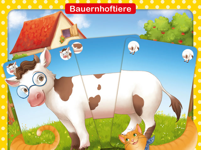 Kinder-Rommé: Bauernhoftiere Bild 1