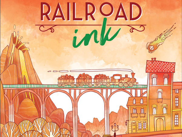 Bild zu Alle Brettspiele-Spiel Railroad Ink: Knallrot