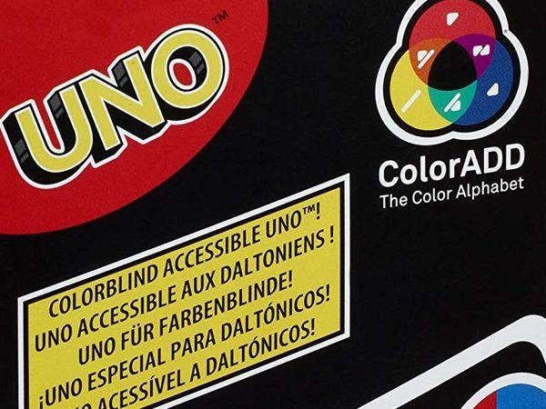 Bild zu Alle Brettspiele-Spiel Uno ColorADD mit Farbsymbolen