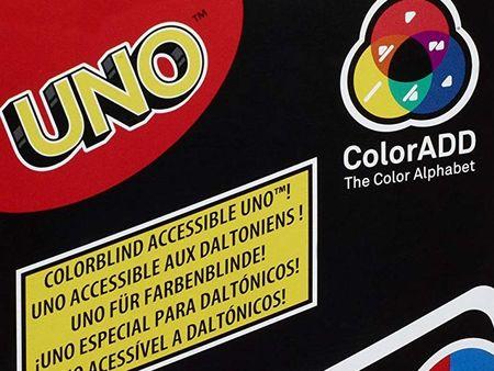Uno ColorADD mit Farbsymbolen