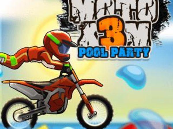 Bild zu Rennen-Spiel Moto X3M Pool Party
