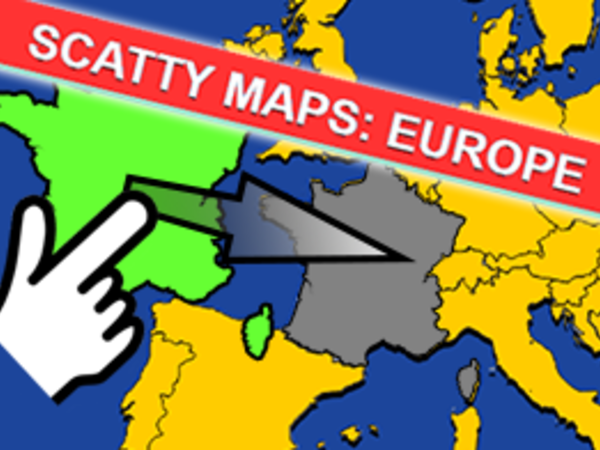 Bild zu Denken-Spiel Scatty Maps Europe